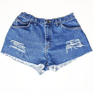 Vintage 90s Gitano High Rise Cut Off Denim Shorts
